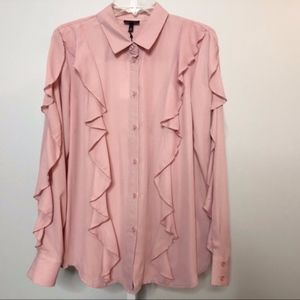 NWT Who What Wear Large Ruffle Top